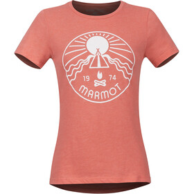 Marmot Prism Camiseta Manga Corta Mujer, flamingo heather